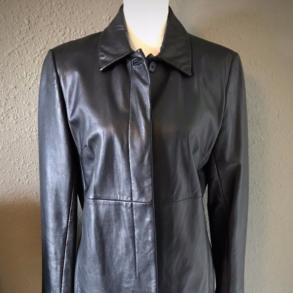 Express Jackets & Blazers - Beautiful Black Leather Jacket by Express ~ Size 1